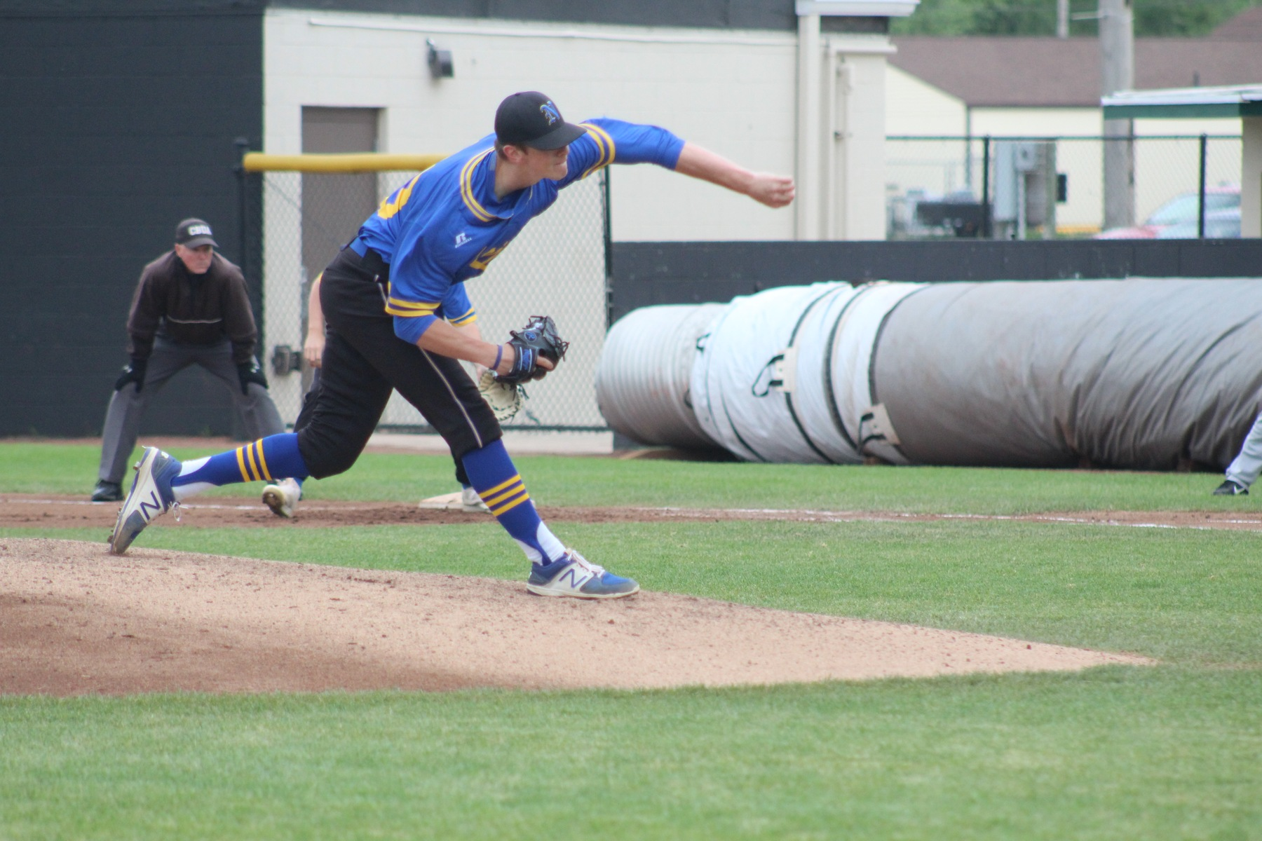 NIACC starter Brandon Williamson delivers a pitch in Friday's tournament game against Kirkwood on Friday.