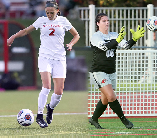 Seidman, Svendsen announced as SUNYAC Women's Soccer Athletes of the Week