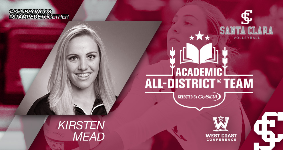 Mead Selected to CoSIDA Academic All-District® 8 Volleyball First Team