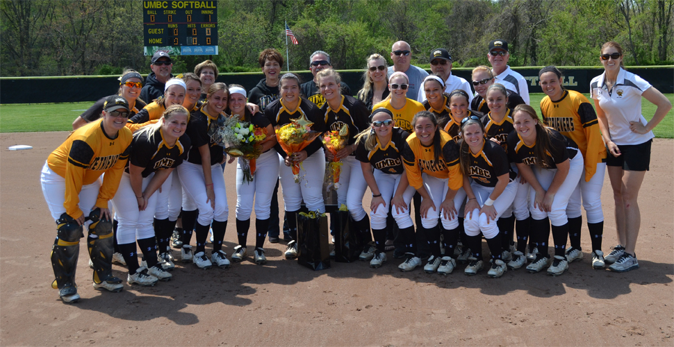 Hall Moves Up on Home Run List; Softball Falls to Albany on Senior Day