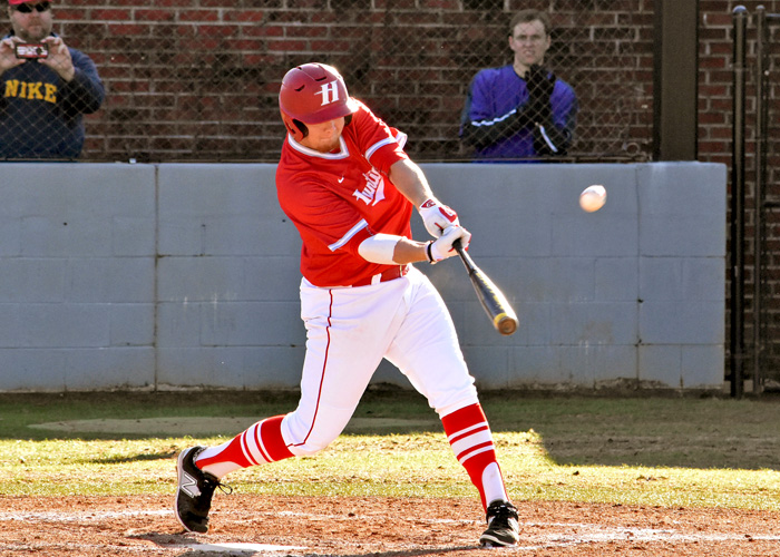 Hunter Long was 3-for-5 with two RBIs and four runs in Saturday's win over Greensboro. (Photo by Wesley Lyle)