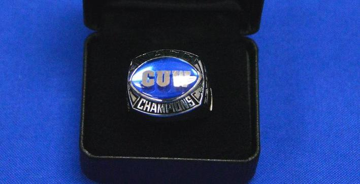 Football receives NACC Championship rings