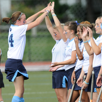 Field Hockey Sprints Past Smith Behind Robertson's Hat Trick