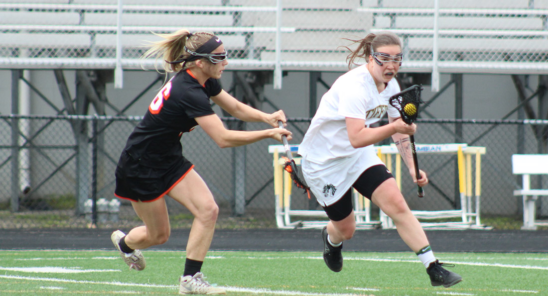 Amie Morrison had 3 goals and an assist in Tiffin's narrow 9-7 loss.