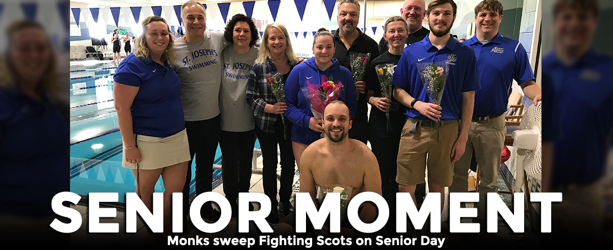 Monks Sweep Fighting Scots on Senior Day