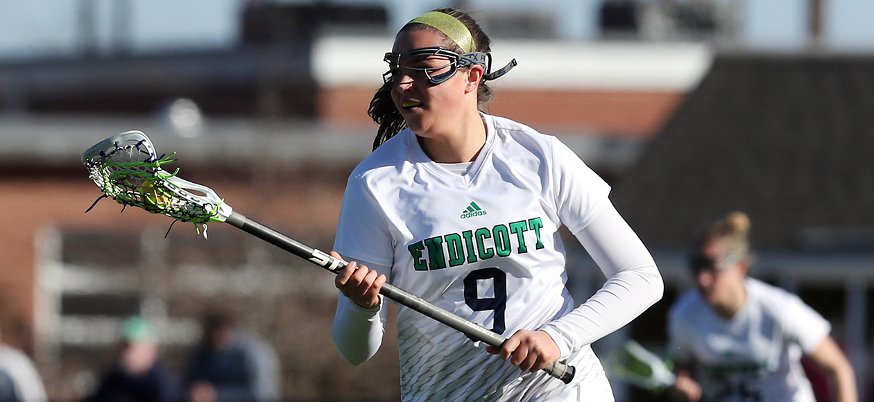 Women's Lacrosse Tops Curry, 20-1; Dutchyshyn Scores 100th Career Goal