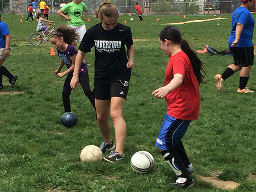 Women's Soccer Volunteers with Kensington Soccer Club