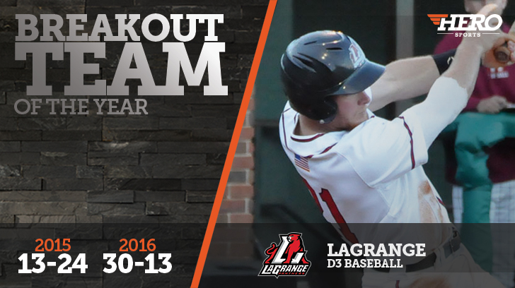 Baseball: LaGrange named the No. 1 D3 Baseball Breakout Team of the Year by the HERO Sports website