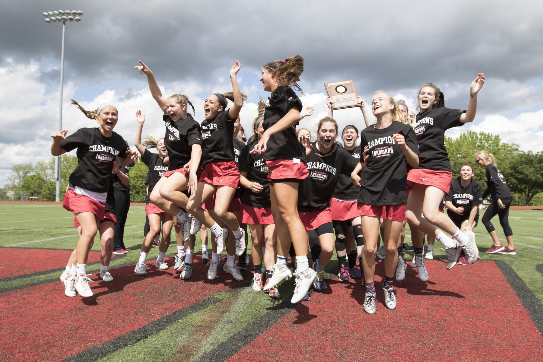Catholic's most recent Landmark Conference Championship, the 2016 women's lacrosse team, went on to advance to the NCAA National Quarterfinal.