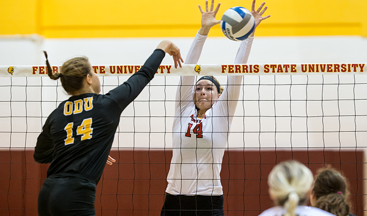 Bulldog Volleyball Drops Divisional Match At Northern Michigan