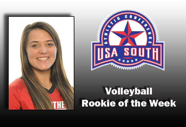 Volleyball: Schmitz earns USA South Rookie of the Week award