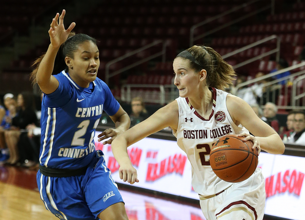 Women's Basketball Stopped on the Road at Boston College on Sunday
