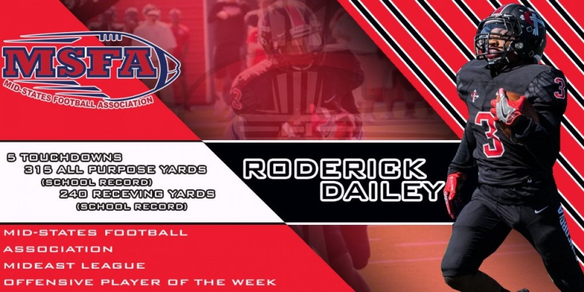 Roderick Dailey named MSFA Mideast League Offensive Player of the Week