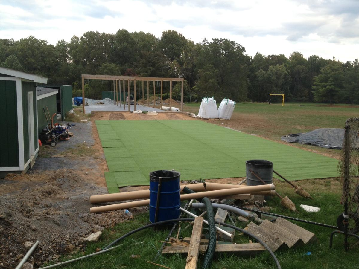 bullpen and batting cage renovation damascus hornets baseball