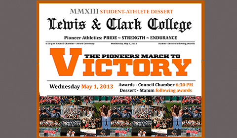 Lewis & Clark Athletic Department Hosts Student-Athlete Award Ceremony & Dessert