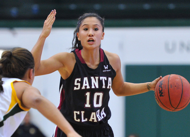 Alyssa Shoji Makes Eight 3s, Leading SCU Past Portland 71-70