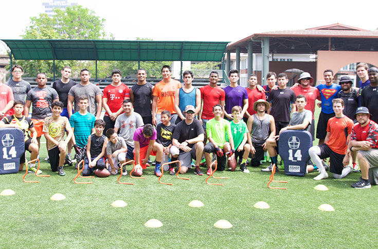 Football: Coaches first college staff to hold football camp in Panama