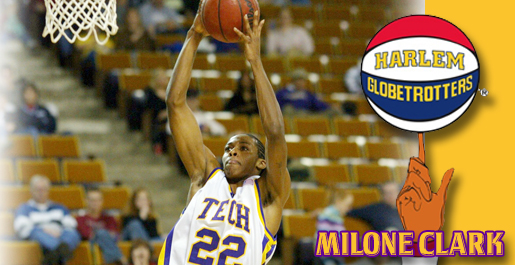 Former Golden Eagle Milone Clark in Globetrotter camp