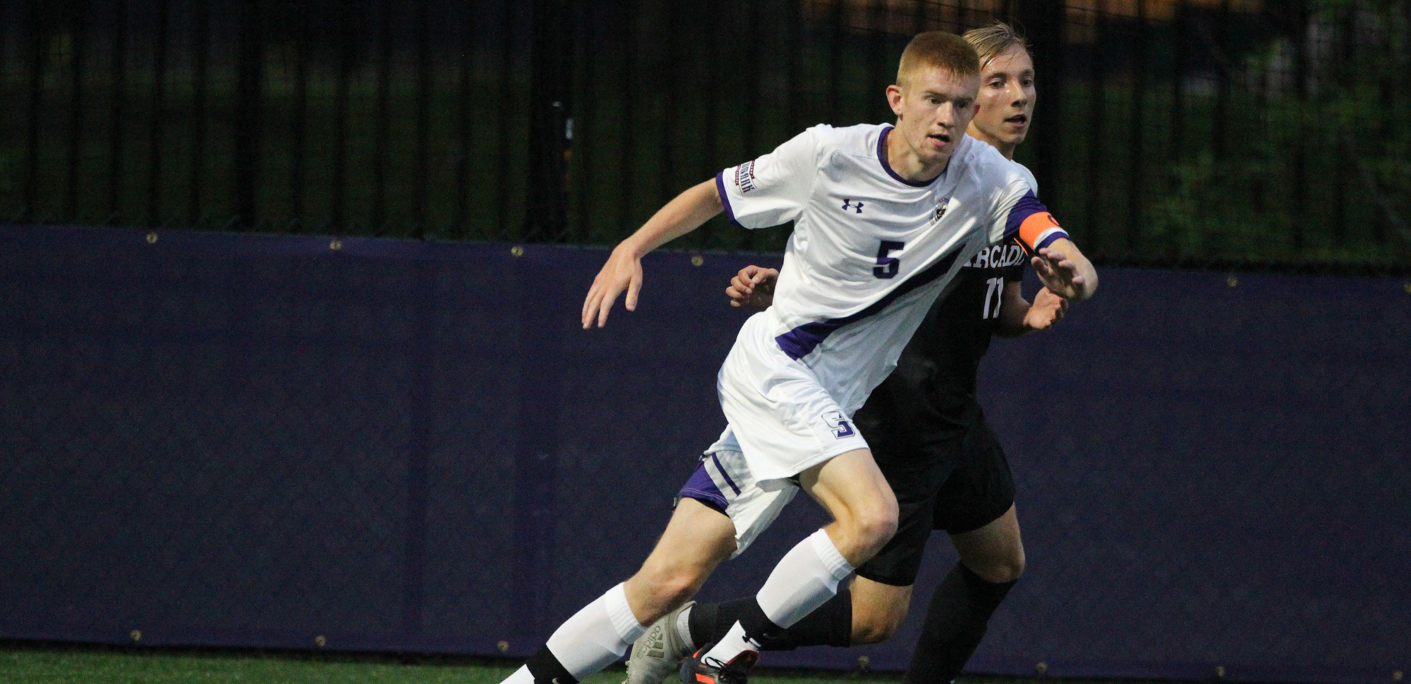 Patrick Prinner scored the only goal in Scranton's key Landmark Conference win at Susquehanna on Saturday.