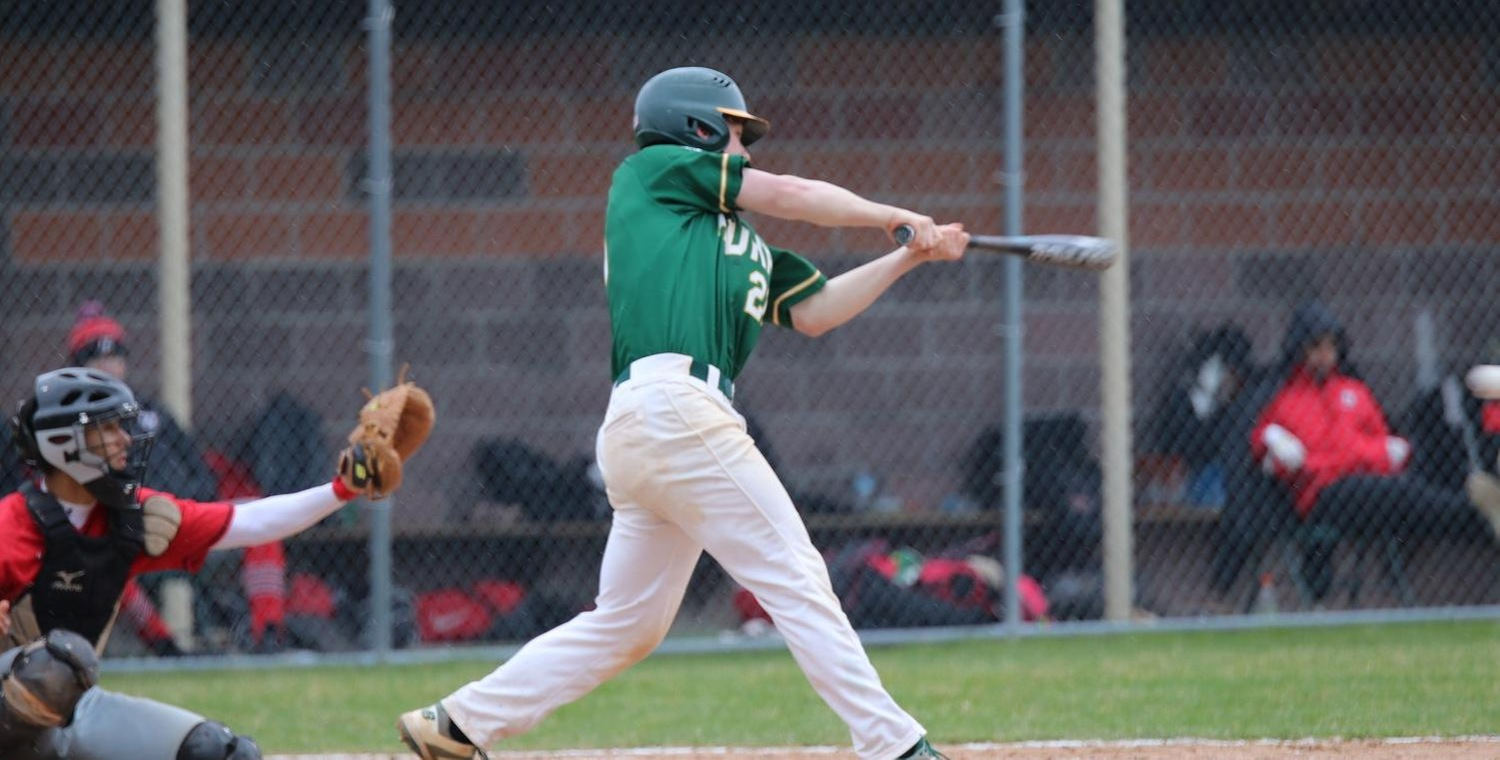 Ryan Seales (21) drove in four runs on Sunday to lead Keuka College -- Photo by Jysenia Dunlavey (4/16/19)