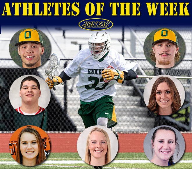 SUNYAC picks Athletes of the Week for baseball, softball and lacrosse