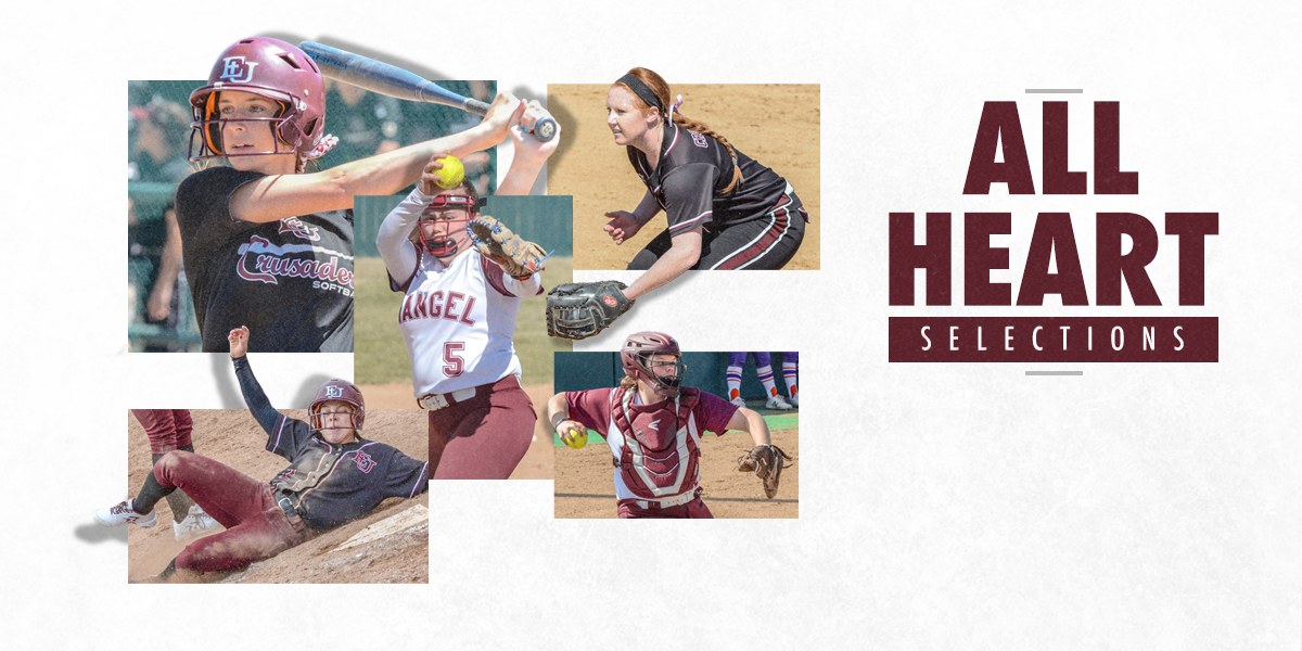 Five for Evangel Softball Earn All-Heart Honors