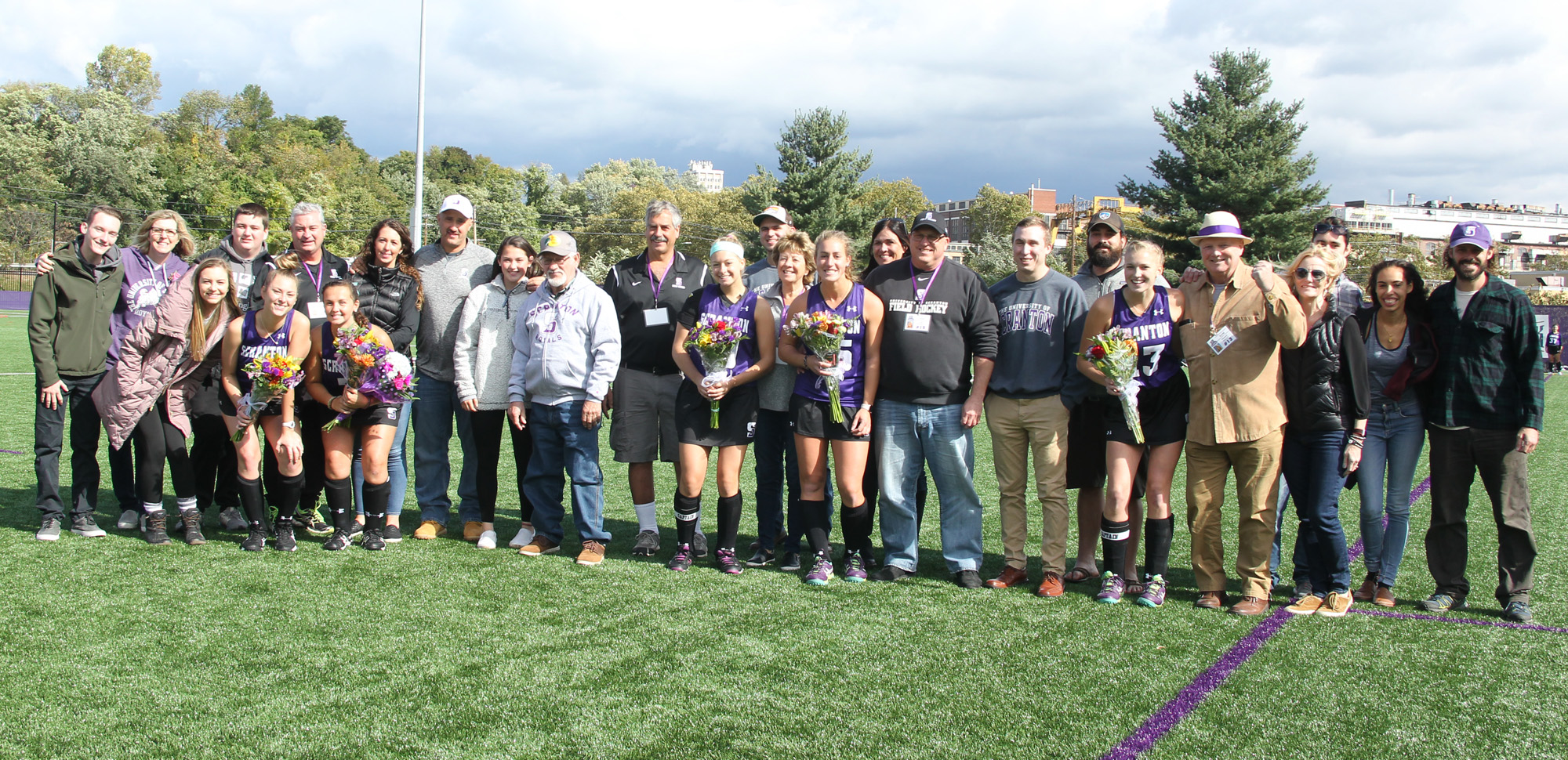 The field hockey team celebrated Senior Day with a key 3-2 win over Susquehanna on Saturday at Weiss Field.