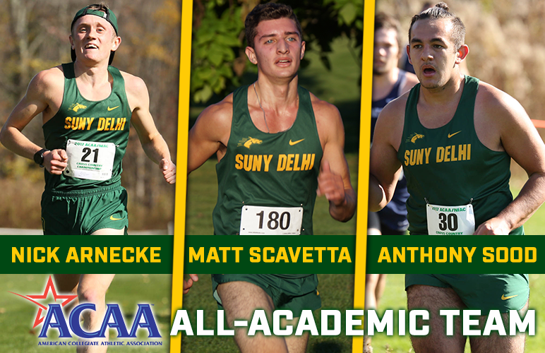 Arnecke, Scavetta, Sood Land ACAA All-Academic Honors