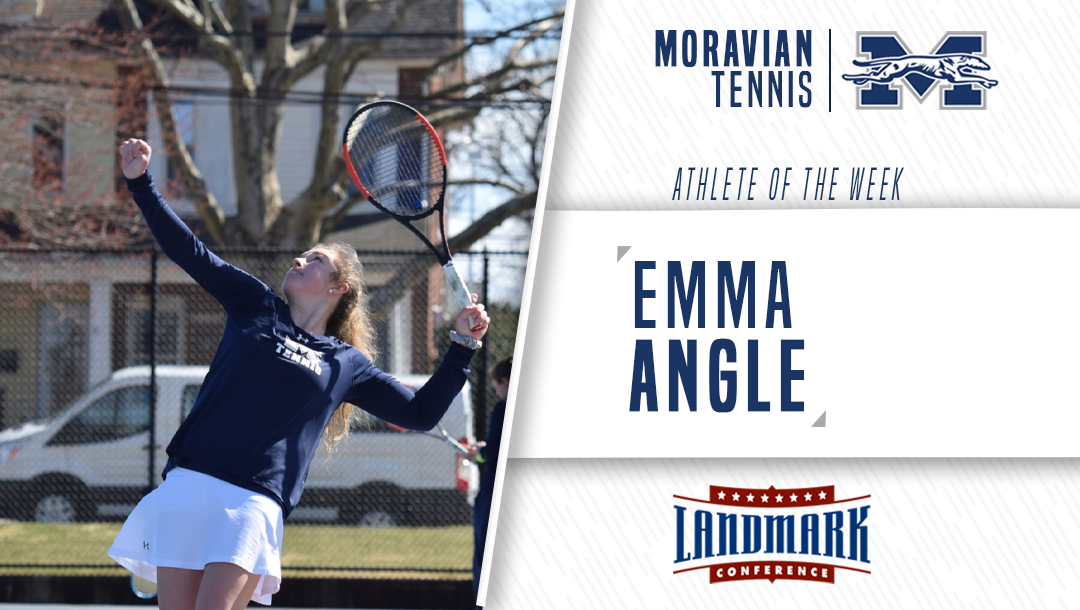 Emma Angle honored as Landmark Conference Women's Tennis Athlete of the Week.
