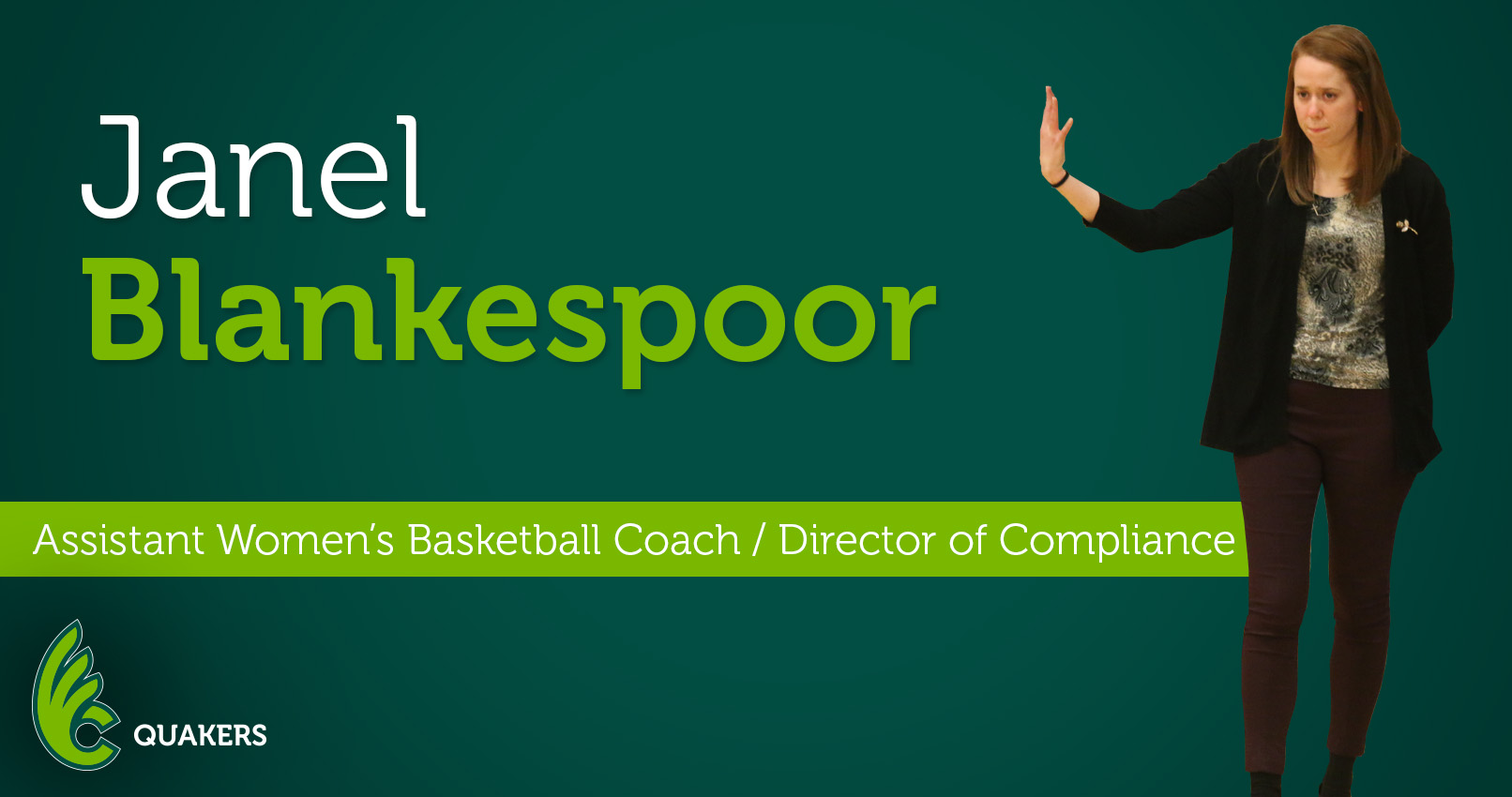 Janel Blankespoor Named Assistant Women's Basketball Coach and Director of Compliance