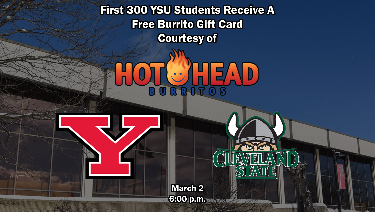 YSU Athletics Announces Several Giveaways For March 2 Men's Basketball Game