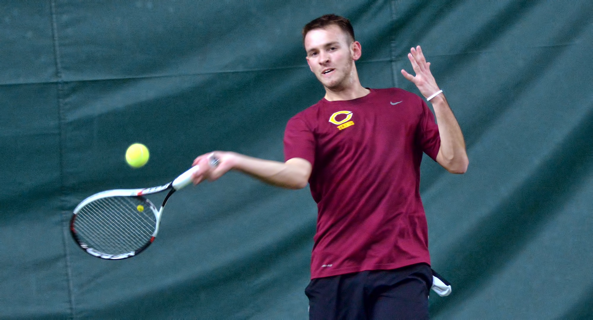 Senior David Youngs earned his team-leading fifth singles win of the year in the Cobbers' match at St. John's.