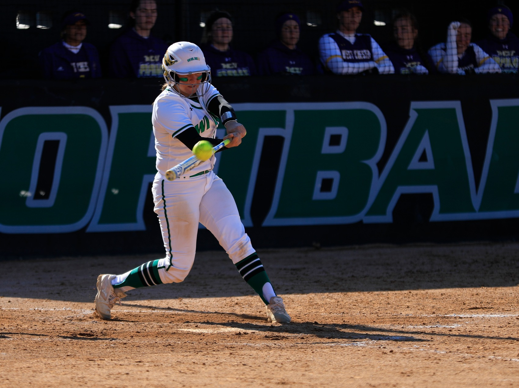 Copyright 2019; Wilmington University. All rights reserved. File photo of Lauren Lopez who set a new single game record with eight RBI at Holy Family. Photo by Chris Vitale. March 26, 2019 vs. West Chester.