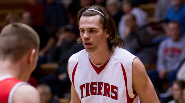 Logan Markko contributed seven points in five minutes against Wabash. Photo by Erin Pence
