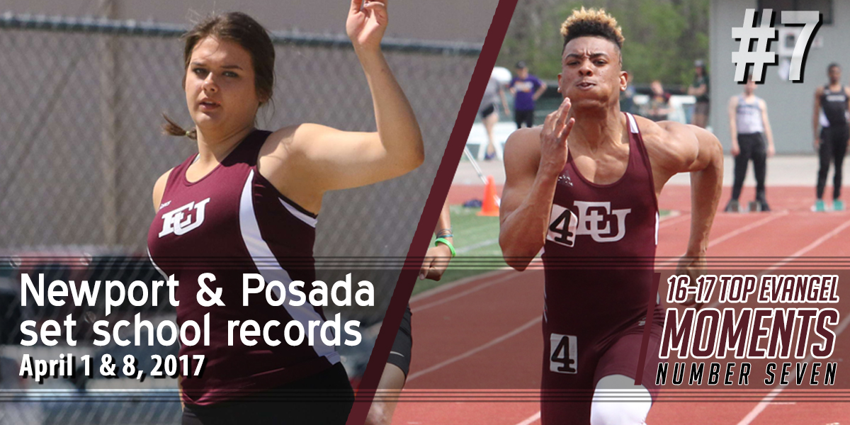Top Evangel Moments from 2016-17: #7 – Allison Newport & Terrell Posada Set School Records