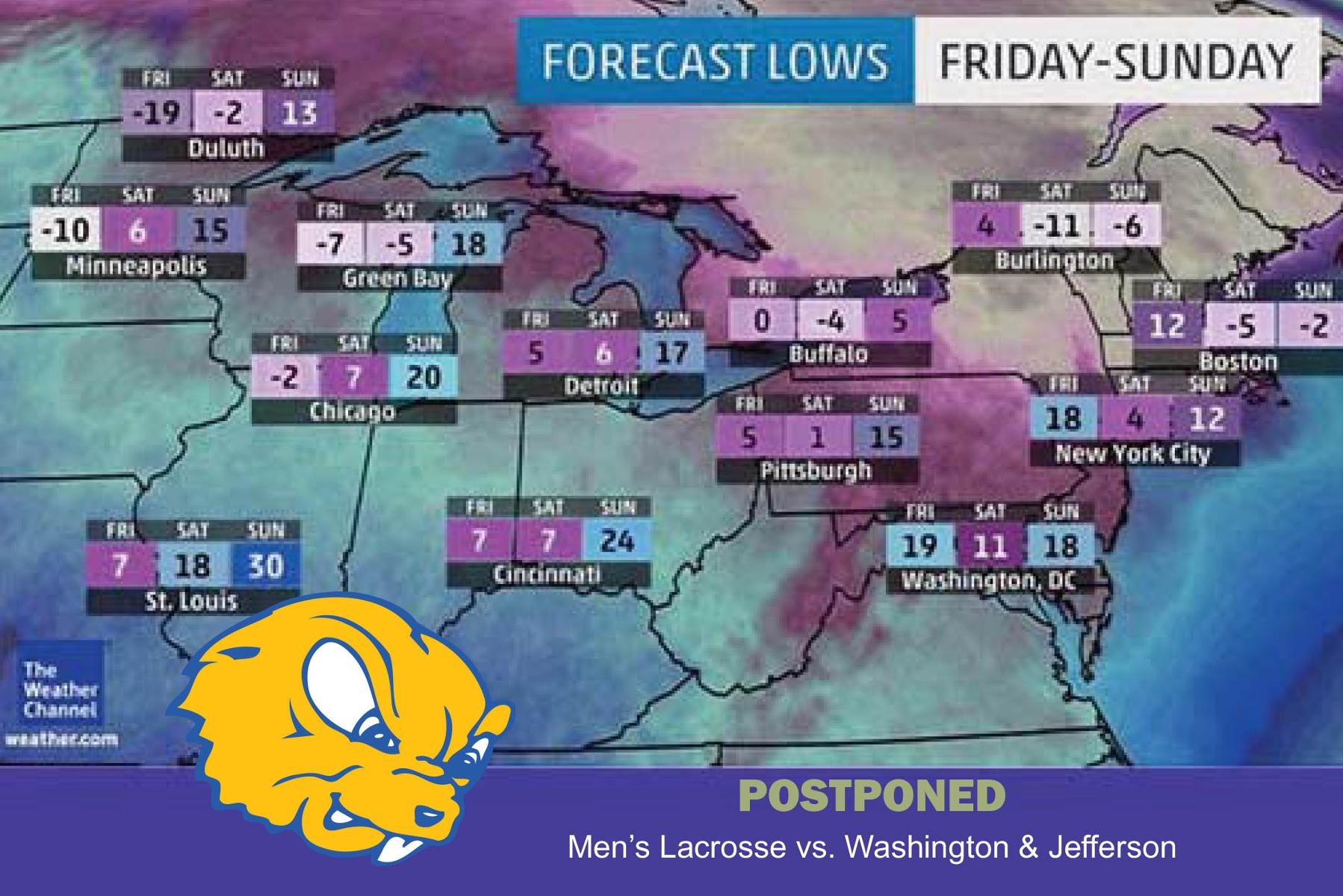 Gophers, Presidents Won't Play Due to Bitter Cold