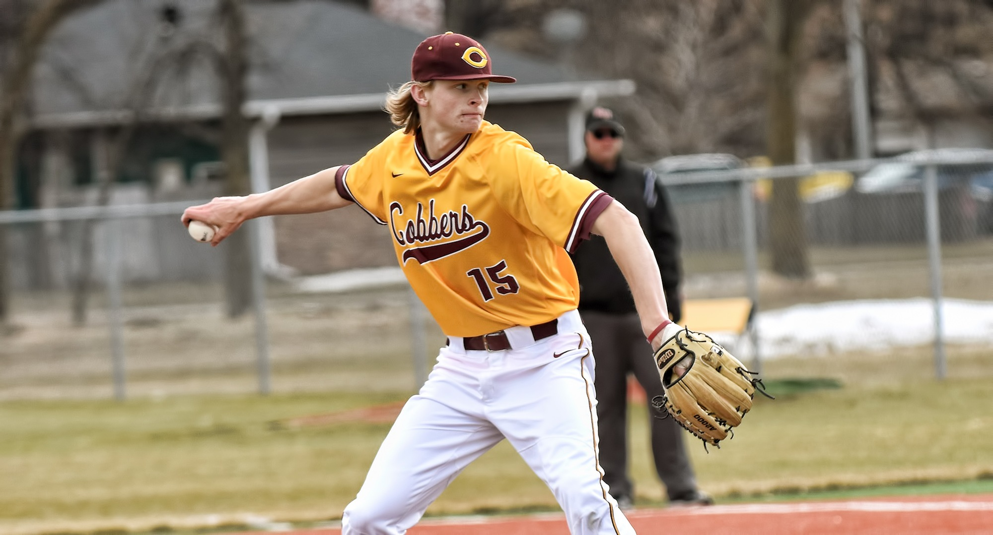 Senior Ty Syverson recorded a complete-game win and only allowed one run and four hits in the Cobbers' 4-1 win over Pitt.-Greensburg.