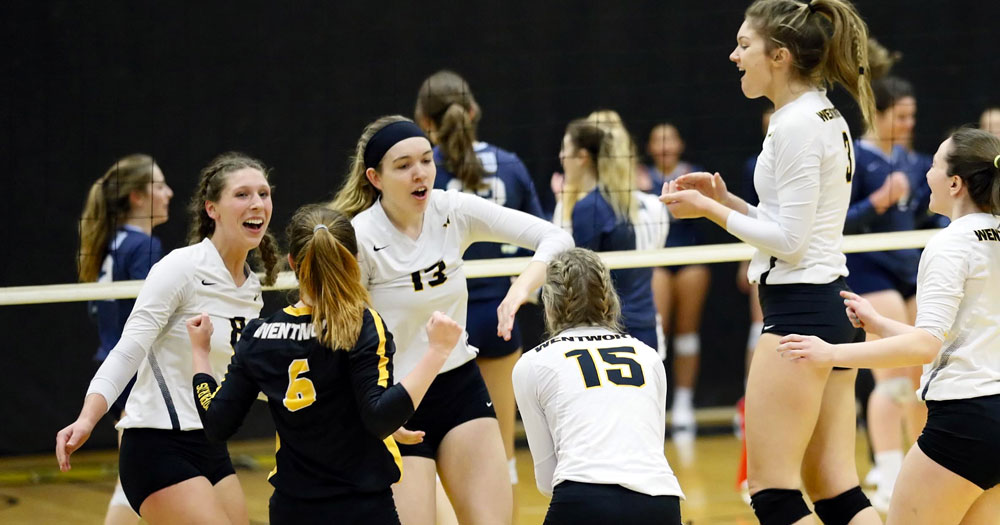 Women's Volleyball Splits with WPI and Keene State in Five-Set Battles
