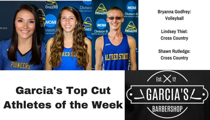 Godfrey, Thiel, and Rutledge Named Garcia's Top Cut Athletes of the Week