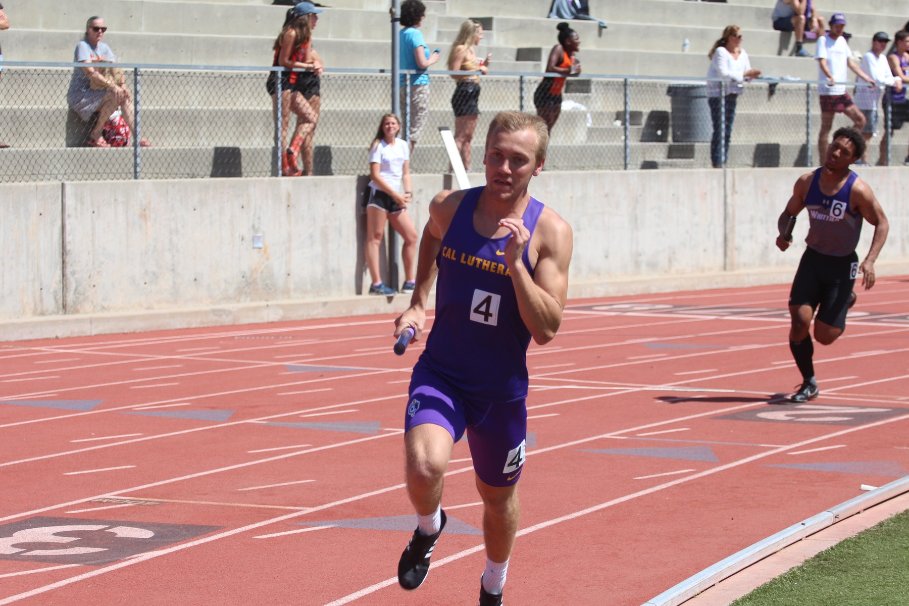 Timmy Kahovec competes at the SCIAC No. 3.