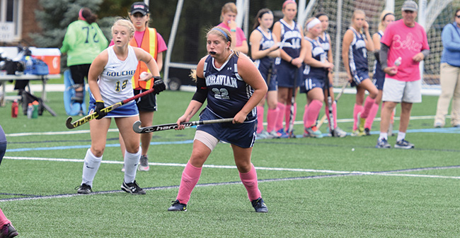 Field Hockey Drops Landmark Conference Match to Goucher