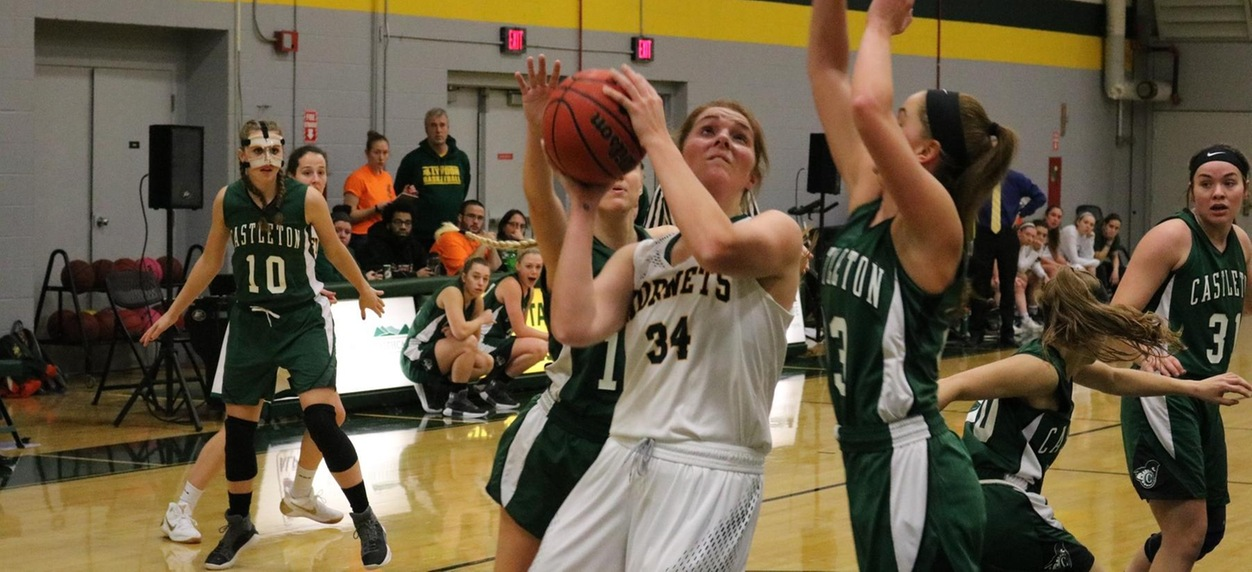 Hodge's double double leads Hornet women past Green Mountain