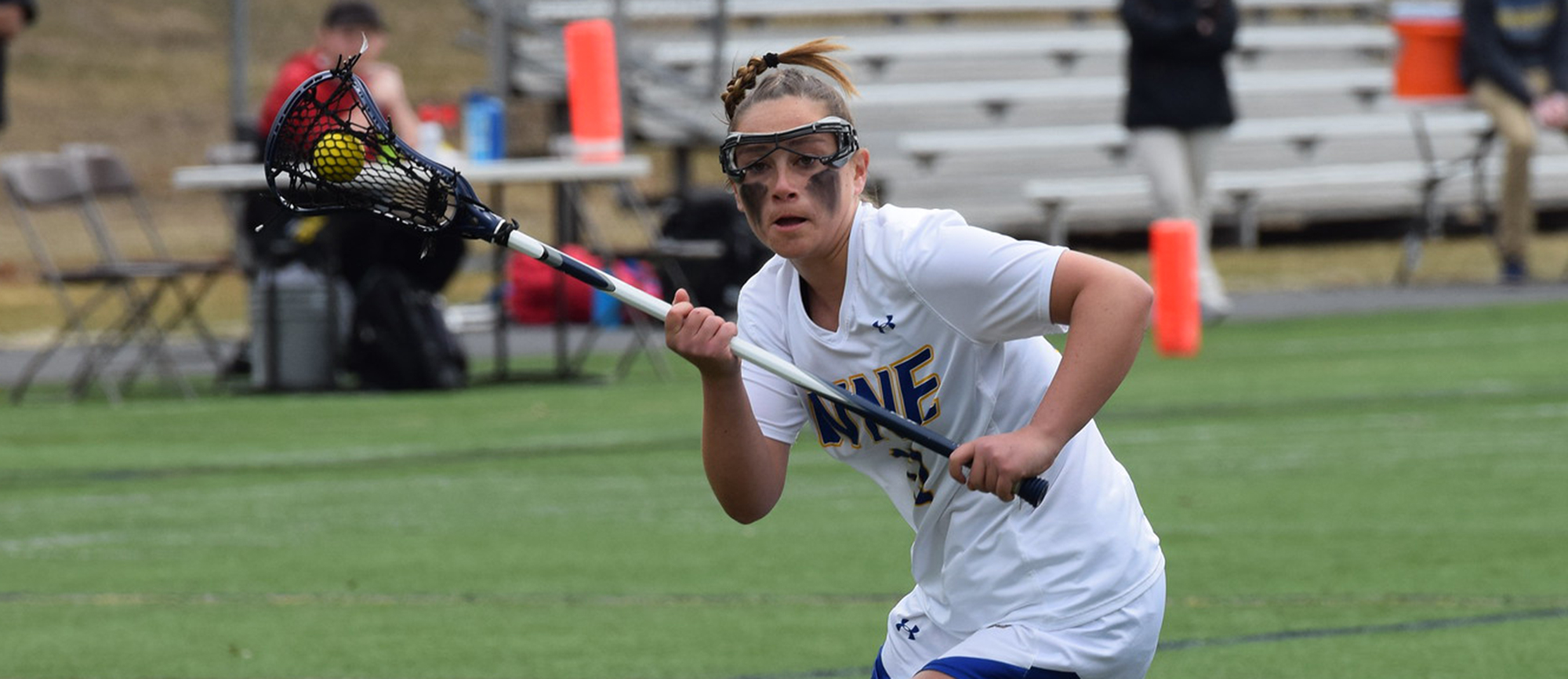 Liz Mazza scored five goals in Western New England's 25-12 CCC Tournament quarterfinal victory over Curry on Saturday. (Photo by Rachael Margossian)