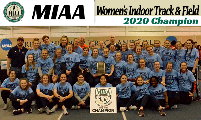 Hope Women's Indoor Track and Field Wins MIAA Championship