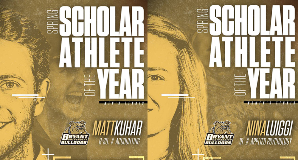 Kuhar and Luiggi named NEC Spring Scholar-Athletes
