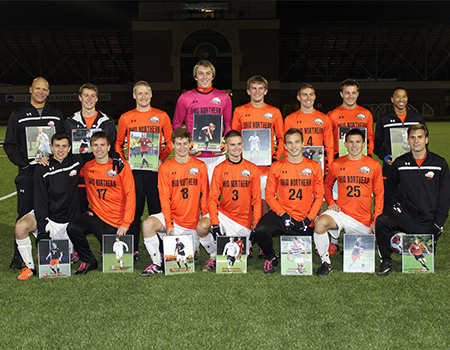 No. 3 Men's Soccer celebrates Senior Night in style with Hat Trick, school record scoring mark