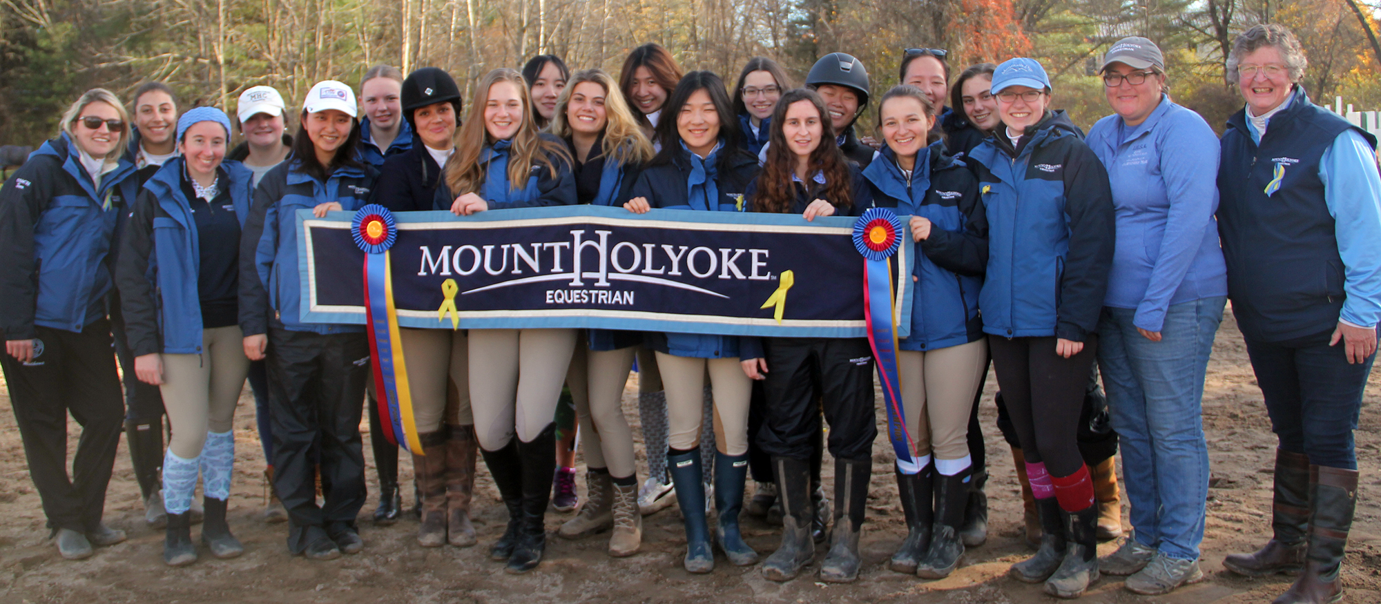 Photo of the Lyons riding team following their High Point win at the UMass Show on Nov. 4, 2018.