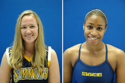 Simmons Basketball junior Stephanie Fox (West Springfield, Mass.) and Swimming sophomore Chennelle Jackson (Dorchester, Mass.) received Great Northeast Athletic Conference honor roll mention for their efforts in the last week of winter competition.