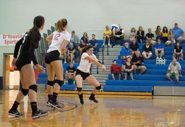 Women's Volleyball Earns First Win of Season in Split of Saturday Tri-Match