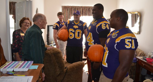 Golden Eagles pay a visit to residents at Morningside
